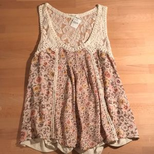 NWT floral lace tank top